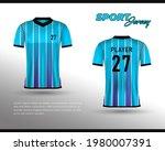 sports racing jersey design....   Shutterstock .eps vector #1980007391