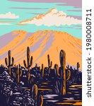 Saguaro Cactus With Wasson Peak ...