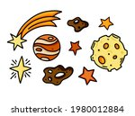 set of cosmic illustrations.... | Shutterstock .eps vector #1980012884