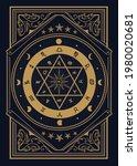 vintage label divine magic...   Shutterstock .eps vector #1980020681