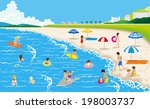 summer beach | Shutterstock .eps vector #198003737