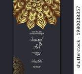 mandala template with elegant ...   Shutterstock .eps vector #1980038357