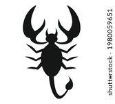 scorpio nature icon. simple...   Shutterstock .eps vector #1980059651