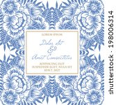 wedding invitation cards with...   Shutterstock . vector #198006314
