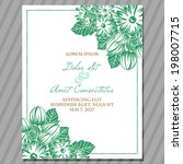 wedding invitation cards with... | Shutterstock . vector #198007715
