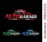 auto garage company logo. auto... | Shutterstock .eps vector #1980115121