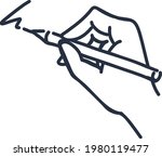 freehand writing with pen... | Shutterstock .eps vector #1980119477