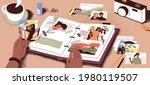 female hands creating photo... | Shutterstock .eps vector #1980119507