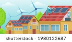 vector of a worker on the house ... | Shutterstock .eps vector #1980122687