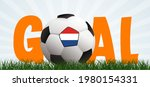 slogan goal with football with... | Shutterstock .eps vector #1980154331