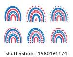 the american flag rainbow... | Shutterstock .eps vector #1980161174