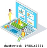 visualize with business... | Shutterstock .eps vector #1980165551