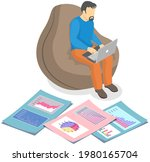 visualize with business... | Shutterstock .eps vector #1980165704
