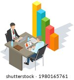 visualize with business... | Shutterstock .eps vector #1980165761