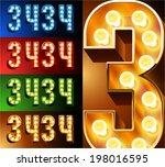 ultimate realistic lamp board... | Shutterstock .eps vector #198016595
