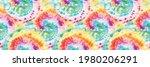 spiral tie dye swirl. vector... | Shutterstock .eps vector #1980206291