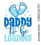 daddy to be  loading   pregnant ... | Shutterstock .eps vector #1980216707
