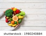 Plate With Vegetables And...
