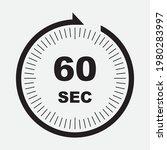 60 second timer clock. simple...   Shutterstock .eps vector #1980283997