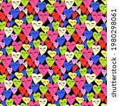 seamless pattern   shapes of... | Shutterstock .eps vector #1980298061