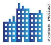 business gradient building icon ...