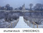 Winter Landscape Church On The...