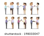 people give different things as ... | Shutterstock .eps vector #198033047