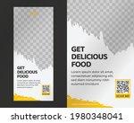 food roll up banner design...   Shutterstock .eps vector #1980348041