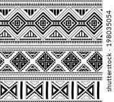 ethnic ornamental textile... | Shutterstock .eps vector #198035054
