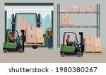 logistics service for storage...   Shutterstock .eps vector #1980380267