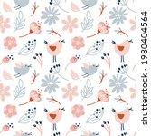 seamless pattern with birds ...   Shutterstock .eps vector #1980404564