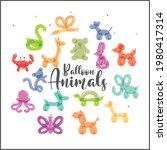 balloon animals party...   Shutterstock .eps vector #1980417314
