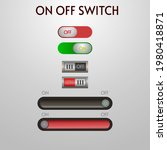 off and on button set  vector...