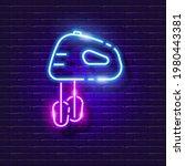 kitchen mixer neon sign. vector ...   Shutterstock .eps vector #1980443381