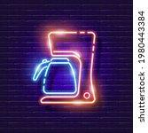 drip coffee maker neon sign....   Shutterstock .eps vector #1980443384