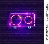 portable kitchen stove neon...   Shutterstock .eps vector #1980443387