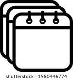 calendar icon vector. isolated... | Shutterstock .eps vector #1980446774