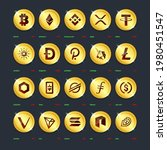 crypto currency coins digital...   Shutterstock .eps vector #1980451547
