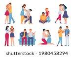friends comforting. mental... | Shutterstock .eps vector #1980458294
