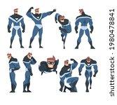 man superhero in action set ... | Shutterstock .eps vector #1980478841