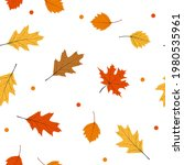 autumn falling leaves seamless...   Shutterstock .eps vector #1980535961