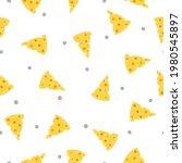 cheese pattern. vector seamless ... | Shutterstock .eps vector #1980545897