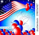independence day card   layout... | Shutterstock .eps vector #198056987