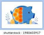 vector illustration of blue fat ... | Shutterstock .eps vector #1980603917
