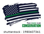 thin green line  distressed...   Shutterstock .eps vector #1980607361