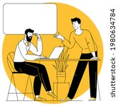 flat design vector cartoon... | Shutterstock .eps vector #1980634784