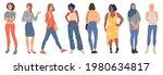 trendy young women. creative...   Shutterstock .eps vector #1980634817
