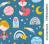 little prince seamless pattern. ...   Shutterstock .eps vector #1980646841