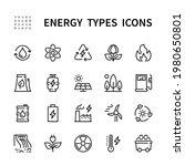 energy types vector linear... | Shutterstock .eps vector #1980650801