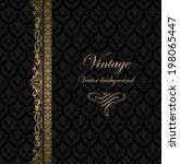 vintage vector background | Shutterstock .eps vector #198065447